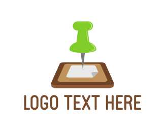 List - Pin Board logo design