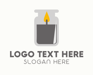 Wax - Candle Jar logo design
