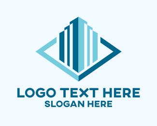 """Blue Skyscraper"" by LogoBrainstorm"