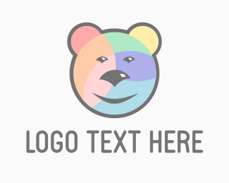 Mardi Gras - Rainbow Bear logo design