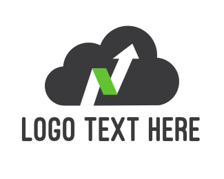 Database - Up Cloud logo design