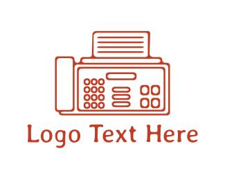 Telephone - Fax Machine logo design