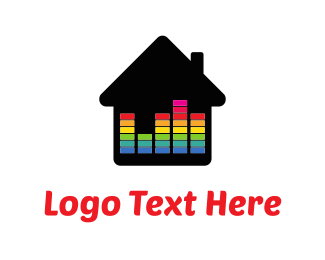 Colorful - Music Home logo design