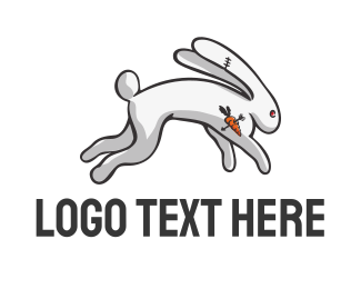 Hip Hop - ANGRY RABBIT logo design