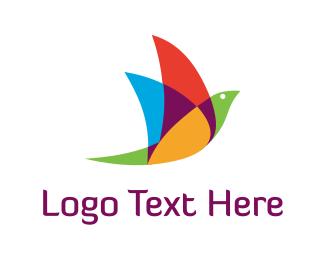 Beak - Colorful Bird logo design