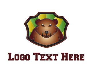 Soccer - Bear Cartoon logo design