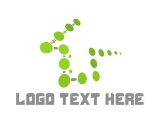 Smart Home - Green Tech House logo design