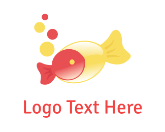 Pool - Fish Candy logo design