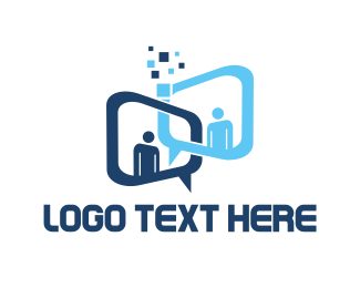 Icon - Conversation Bubbles logo design