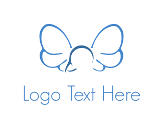 Dragonfly - Fly Blue Logo logo design