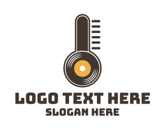 Music Festival - Temperature Records logo design