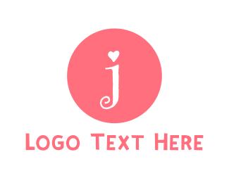 Letter J - Cute Pink Letter J logo design