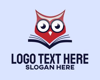 Read - Owl Book logo design