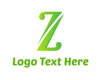 Therapy - Green Letter Z logo design