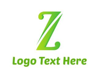 Massage - Green Letter Z logo design
