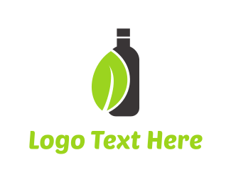 Juice Bar - Green Leaf Drink logo design