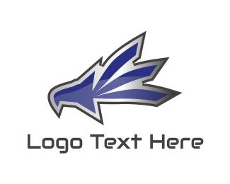 Metallic - Metallic Eagle Mascot logo design