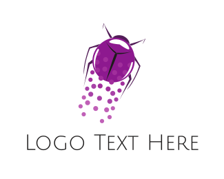 Beetle - Flying Beetle logo design