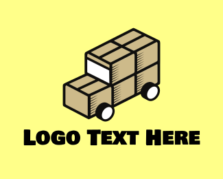 Delivery Service - Box Truck logo design