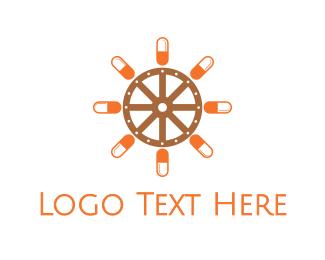 Wheel - Pill Wheel logo design