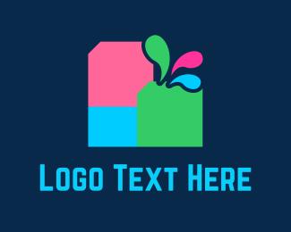 Printer - Colorful Ink logo design