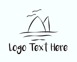 Sea - Beach Lines logo design