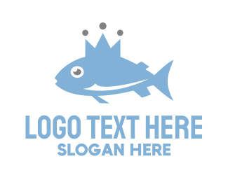 Tuna - Royal Fish logo design