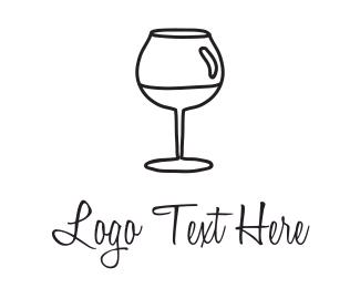 Tavern - Black Wineglass logo design