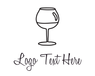 Club - Black Wineglass logo design