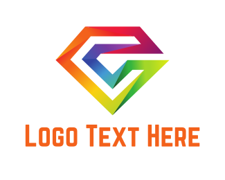 Hipster - Colorful Diamond Letter logo design
