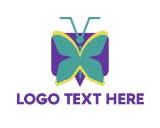Mint Butterfly Logo
