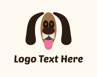 Snout - Brown Dog Cartoon logo design