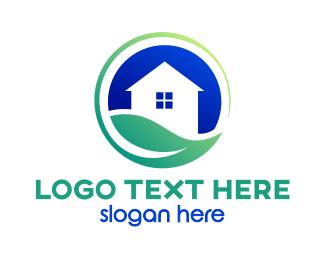 Greenhouse - Earth House logo design