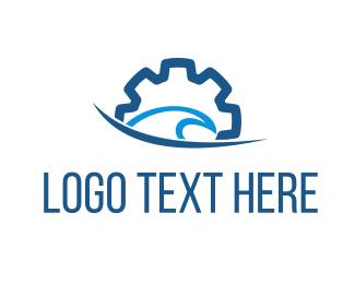 Cog - Ocean Gear logo design