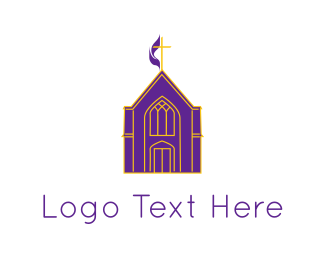 God - Purple Church logo design
