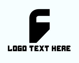 Letter F - Letter F Silhouette logo design