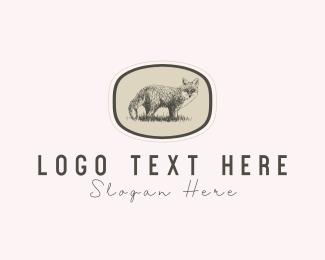 Wildlife - Fox Art logo design