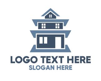 Developer - Blue Tall House logo design