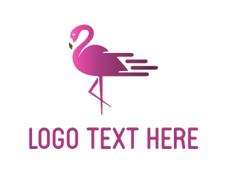 Express - Fast Flamingo logo design