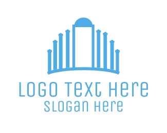 Door - Blue Palace logo design
