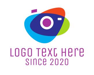 Overlap - Abstract Camera logo design