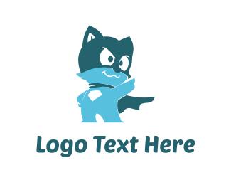Hero - Cat Hero logo design