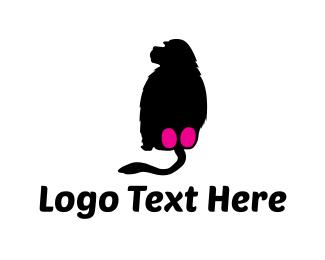 Zoo - Baboon Silhouette logo design