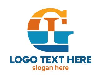 Hotel - Colorful Stripe GI logo design