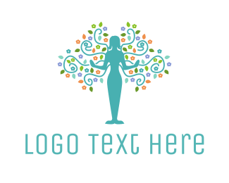Alone - Natural Woman logo design