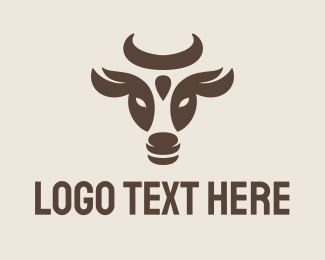 Farmer - Cow logo design