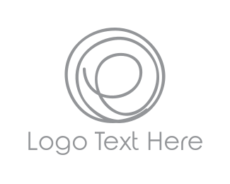 Text - Spiral Letter E logo design