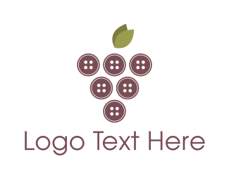 Sew - Button Grapes logo design