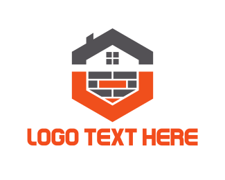 Brick - Hexagonal House logo design