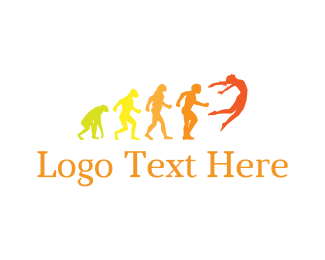 Jump - Human Evolution logo design